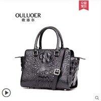 Ouluoer тайская сумка из крокодиловой кожи для леди Повседневная сумка через плечо модная сумка крылья женская сумка