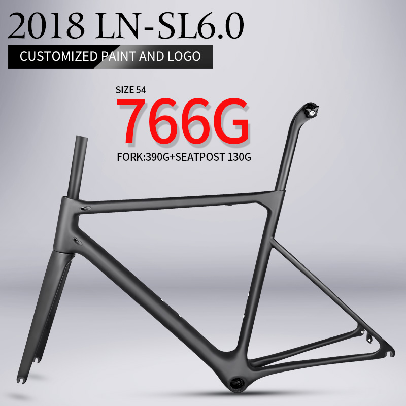2018 T1000 only 766g super light aero carbon road bike frame Chinese high quality light weight carbon fibre bicycle frame track frame fixed gear frame bsa carbon 1 1 2to 1 1 8 bike frameset with fork seatpost road carbon frames fixed gear frameset