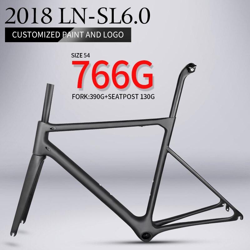 2018 T1000 solo 766g super leggero aero della strada del carbonio telaio della bici Cinese di alta qualità peso leggero in fibra di carbonio della bicicletta telaio