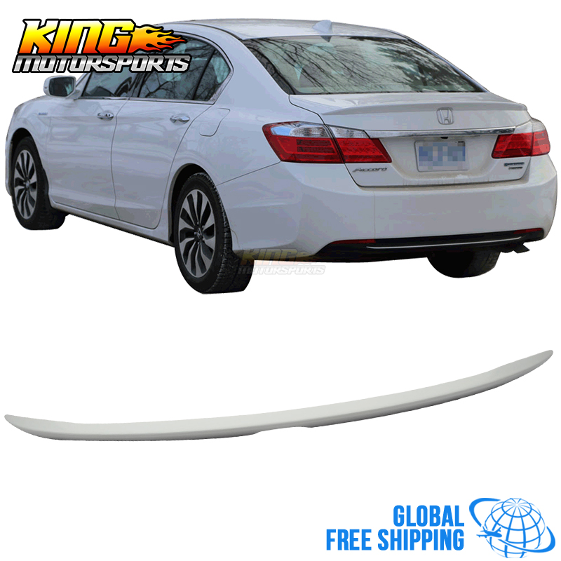 For 2013-2016 Honda Accord 4Dr Sedan OE Style Unpainted Trunk Spoiler(ABS) Global Free Shipping Worldwide