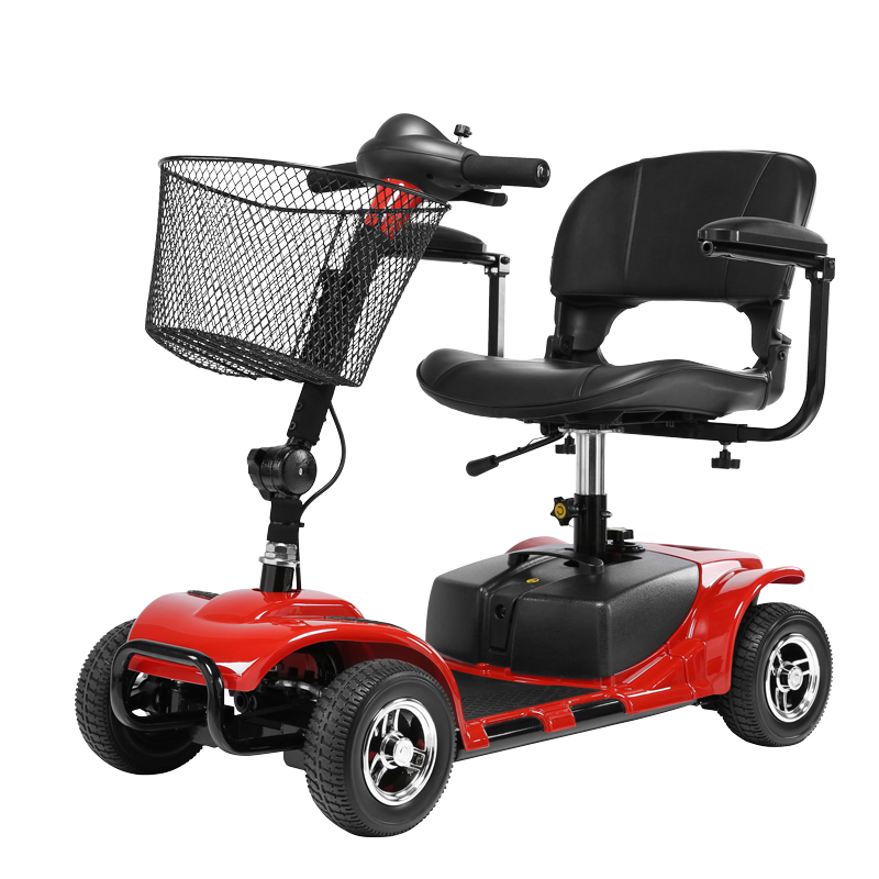 Cofoe Electric Wheelchair Folding Portable Stainless Steel Scooter Four Wheeler for Old People the Disabled Health Care electric scooter antiskid seat hand brake recreation vehicle collapsible disabled safety comfortable for single elder people