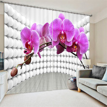 Beautiful Pansy painting Blackout Curtains Living Room hotel Drapes Cortians Sunshade Window Curtain 3D Curtains