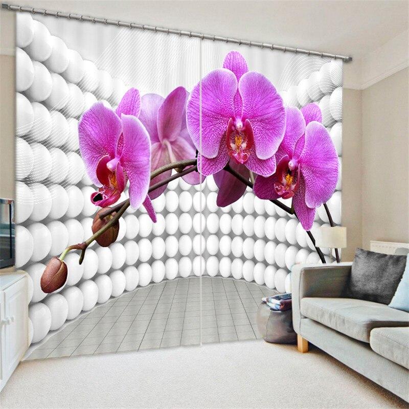 Belle Pansy peinture rideaux occultants salon hôtel rideaux Cortians parasol fenêtre rideau 3D rideaux