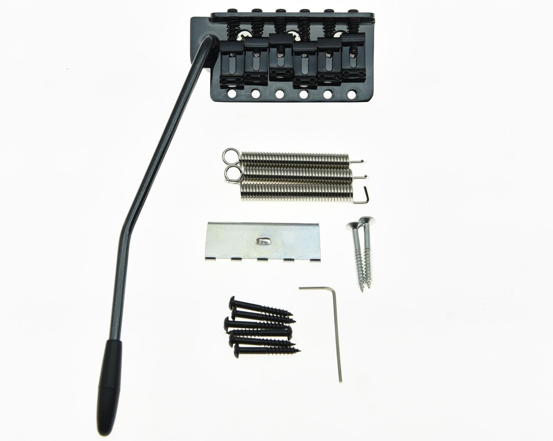 KAISH Vintage ST Style Guitar Tremolo Bridge Locking System Full Block Black