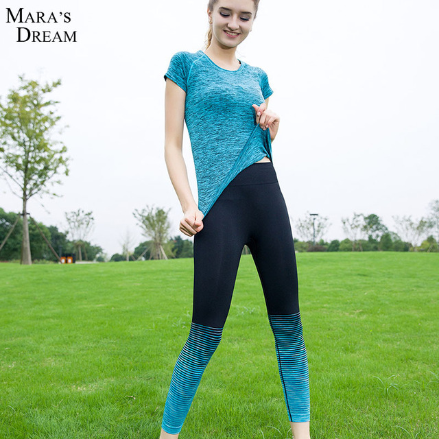 Aliexpress.com : Buy 2016 Hot New Women Gradient Tight Yoga Pants ...