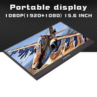 15.6 1920x1080 IPS FHD Portable Monitor with HDMI USB power port Metal shell lcd Display for PS3/4 Raspberry laptop TV box CCTV