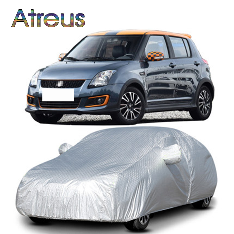 1Set Hatchback M Waterproof Dustproof Car covers for Suzuki Swift Alto Citroen C2 Fiat 500 Mini Cooper R50 R53 R55 Accessories