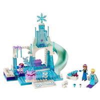 2017 mädchen Beste Spielzeug Geschenk! prinzessin Elsa Eis Magic Castle Bausteine Kit DIY Montiert Fee Schnee Paradise Blöcke Spielzeug