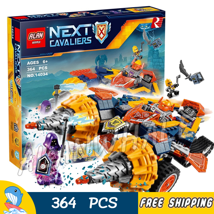 364pcs Knights 3in1 Axl's Rumble Maker Model Building Blocks 10703 Assemble Children Toys Games Brick Nexus Compatible With Lego rumble roses xx купить спб