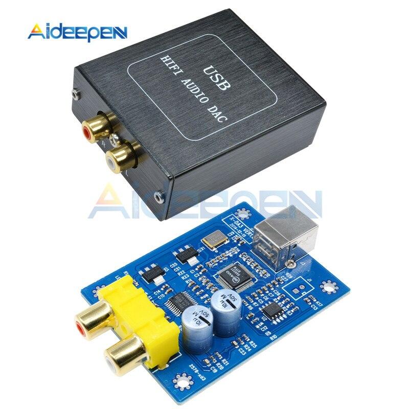 SA9227 + PCM5102A 32Bit 384KHZ Assíncrona DAC HIFI Decodificador Bordo Módulo de Decodificação de Áudio 5V USB Com Caso Para mac so Windows