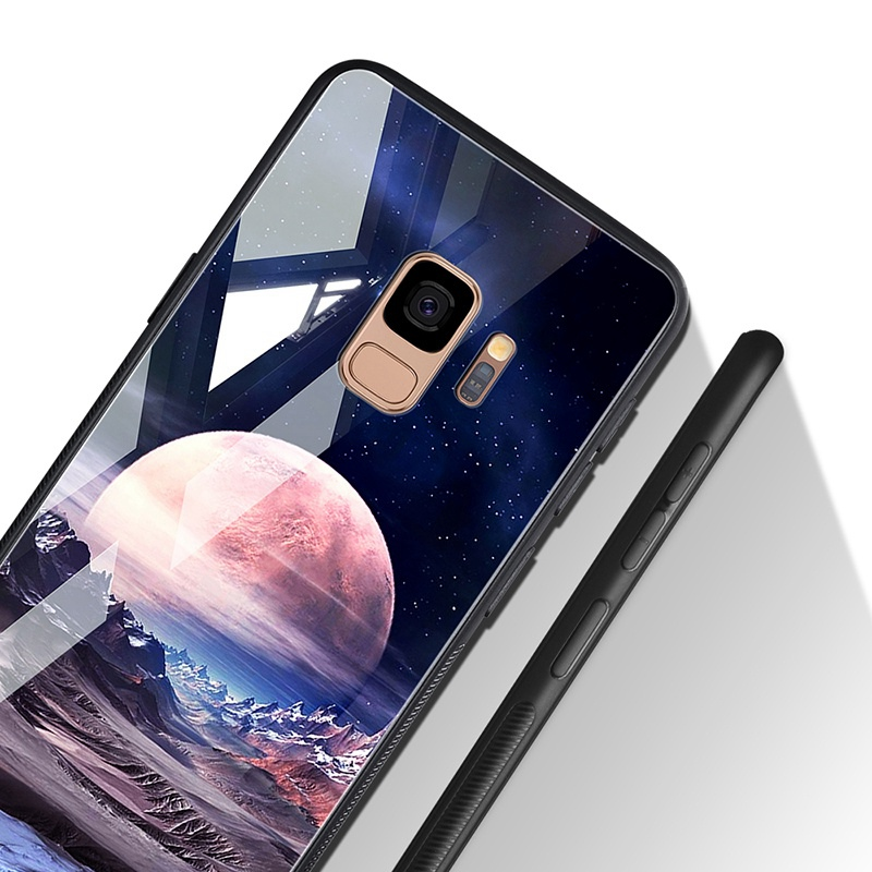 Odifren Space Case for Samsung Galaxy S9 S9 Plus Case Note 9 Tempered Glass Cover Coque Phone Cases for Samsung Galaxy Note 8 9 (9)