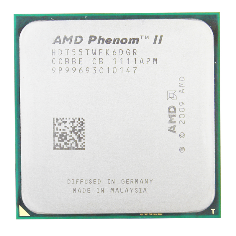 AMD Phenom II X6 1055 T 95 W CPU processeur 2.8 GHz AM3 938 Processeur Six-Core 6 M bureau CPU 95 W