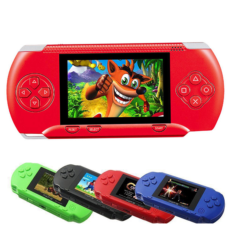 16 Bit PXP3 Handheld Game Player Video Gaming Console with AV Cable+2 Game Cards Classic Child Family Video PXP 3 Game Console us plug hdmi video game player 16 bit md nostalgia gaming console with double 2 4g wireless controllers retro style design