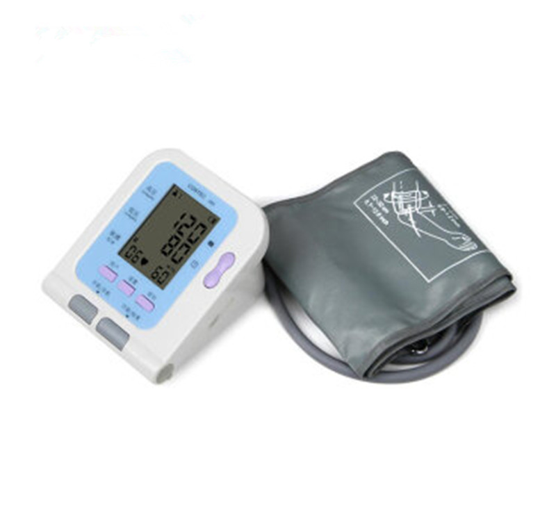 BP monitor Digital Upper Arm Blood Pressure Pulse Monitors Sphygmomanometer Tonometer Portable Meters with cuff oximeter probe newest blood pressure monitor 24 hours monitor handhold digital upper arm with voice broadcast sphygmomanometer