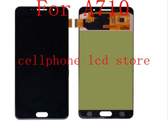 2016 Amoled For samsung For Galaxy a7 A710 A710F A710M LCD Screen Display+Touch Panel Glass Digitizer assembly by replacement