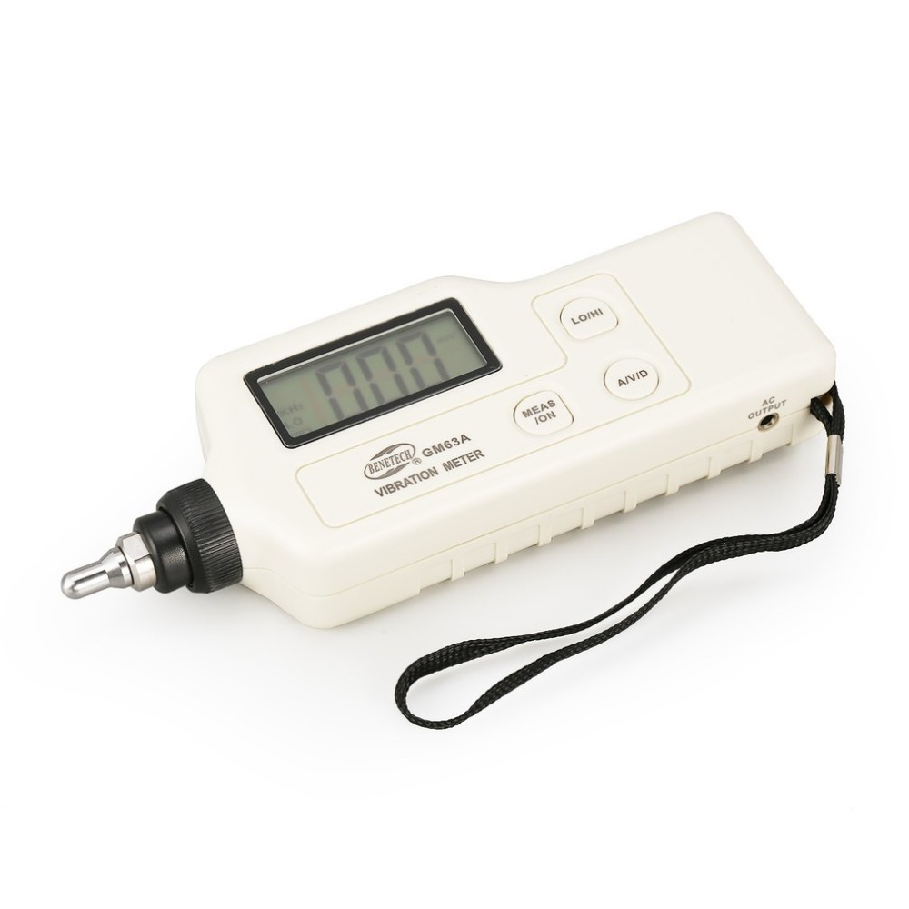 GM63A Portable Digital Vibration Meter Handheld Vibrometer Tester Device Measure Vibration Analyzer Gauge цена