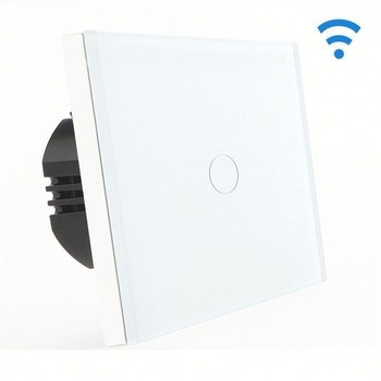Bseed Wireless Touch Light Switch 1 Gang 3 Way Touch Dimmer With Remote Control White Touch Switch Dimmer Eu Uk Us Au 2017 smart home crystal glass panel wall switch wireless remote light switch us 1 gang wall light touch switch with controller