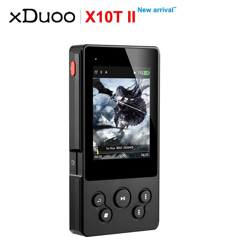 XDUOO X10T II Bluetooth HIFI platine numérique lecteur de musique support MP3 DSD256 PCM 384HKz/32Bit Optocal/Coaxial/AEX/sortie USB