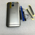 Новые Оригинальные Корпуса Задняя Крышка Батареи Чехол Для HTC one M8 с сим Лоток + SD Лоток + Верхнем Днище Крышки Инструменты Бесплатная Доставка
