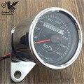 chrome LED light Universal Odometer Speedometer Meter for Motorcycle Tachometer motorbike motocross ATV Off-road moto scooter