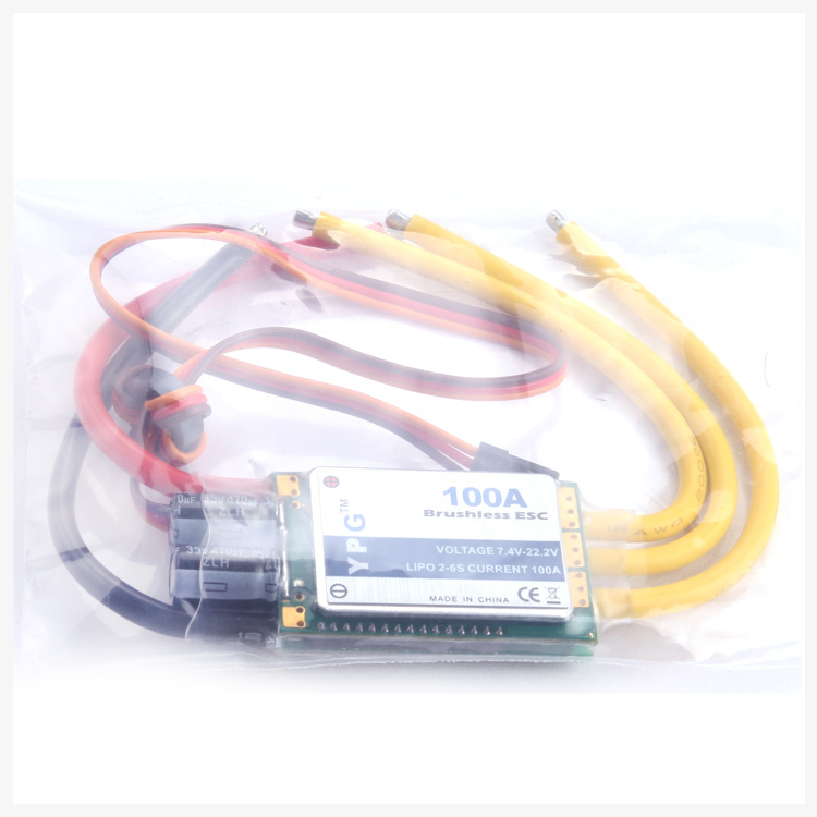 Freeshipping YPG 100A (2~6S) SBEC Brushless Speed Controller ESC High Quality gartt ypg lv 150a 2 6s brushless speed controller esc