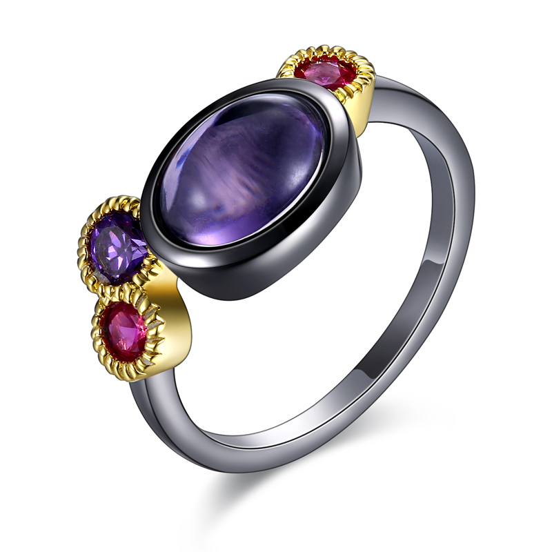New arrivals Rings for girls copper material with purple stone vintage Ring ladies party ring fashion jewelry Free drop shipping