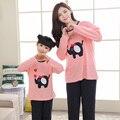 Семейные рождественские пижамы семьи сопоставления одежда мама и я пижамы симпатичные свинья горошек пижамы мать дочь наборы челнока