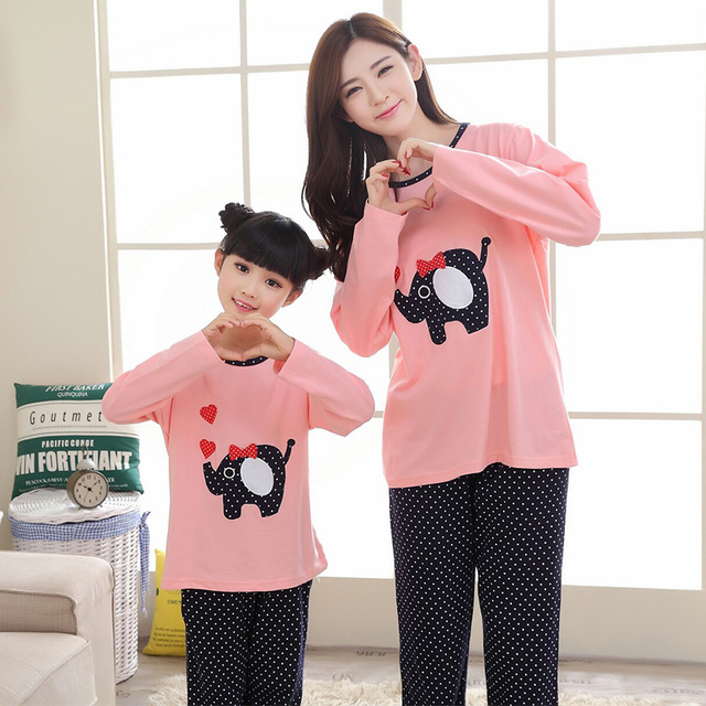 8d7c4ef53f Family christmas pajamas family matching clothes mommy and me pajamas cute  pig polka dot sleepwear mother