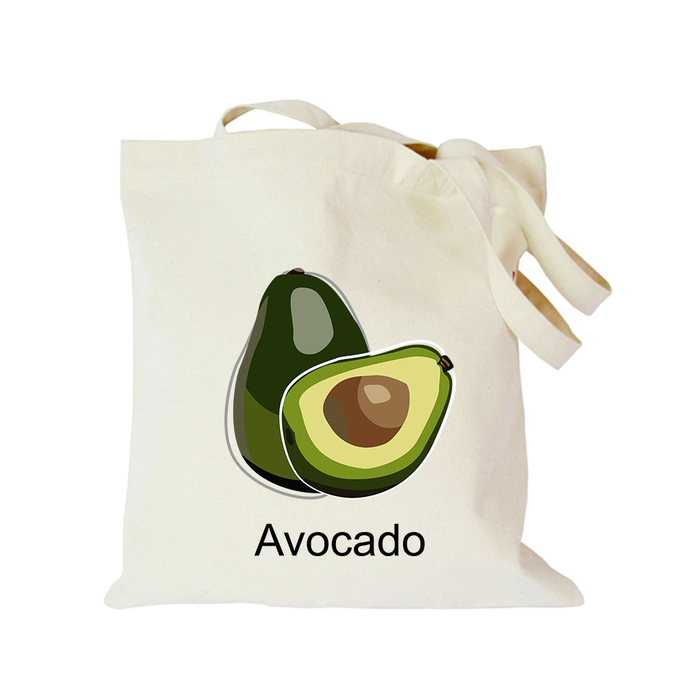 Origina kawaii canvas avocado custom tote bag customize eco diy logo shopping bag with logo (5)