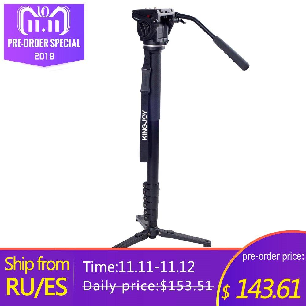 Kingjoy MP4008F+VT-3510 Professional Monopod Dslr For All Models Camera Tripod Stand Para Movil Flexible Tripe Stativ SLR DSLR цена