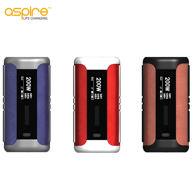 D'origine Aspire Speeder Mod 200 W E Cigarette Speeder Boîte Mod Vaporisateur Adapte Double 18650 Batterie Suite Cigarette Électronique MOD