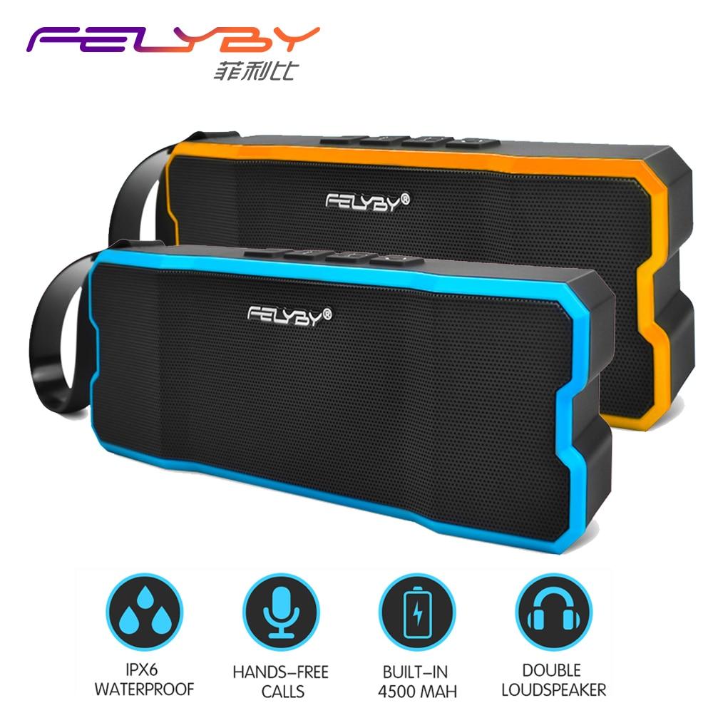 FELYBY Bluetooth Speaker Waterproof Player / Shockproof Subwoofer Built-in Outdoor Wireless mp3 Speaker powered audio speakers