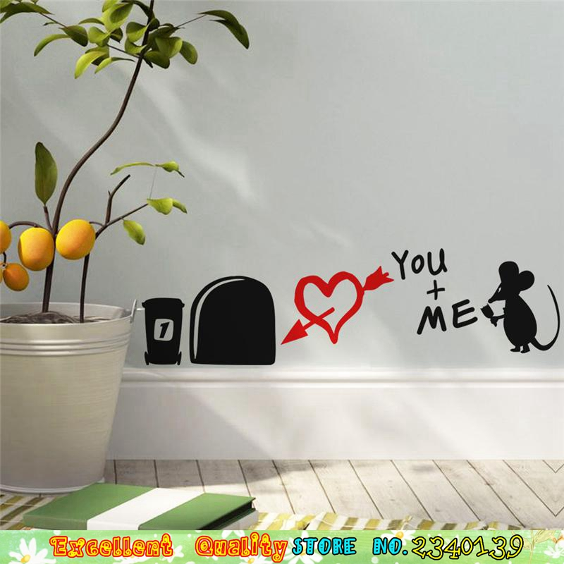Cute 3D Mouse Rats Home Wall Sticker