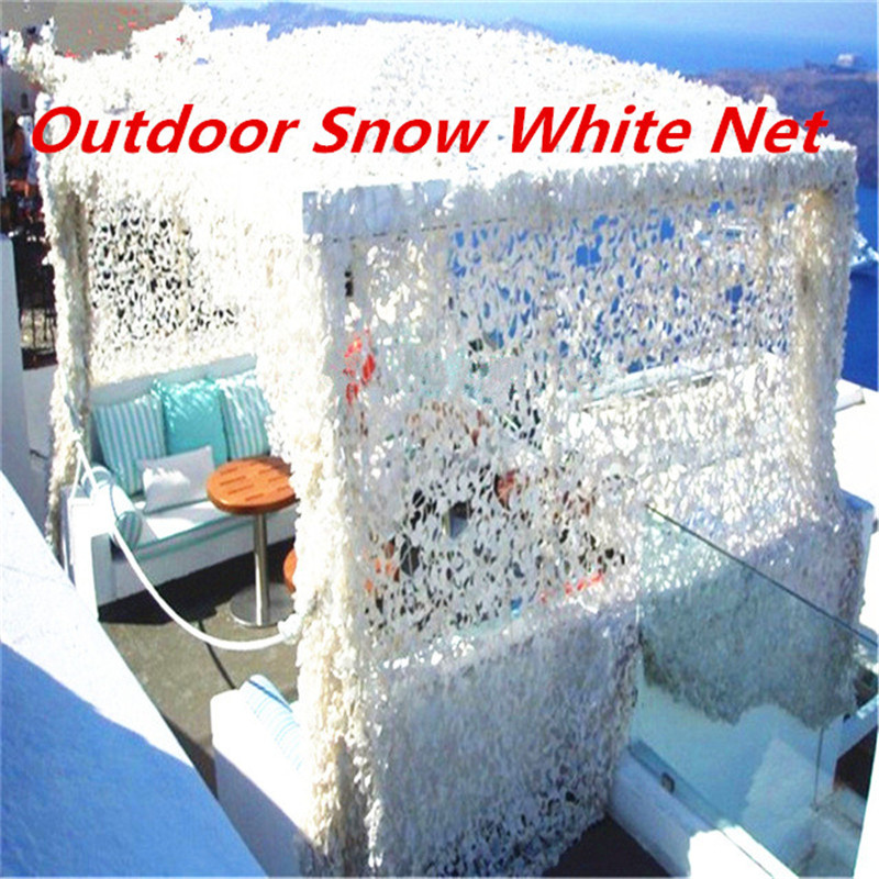 1.5X5 2X3 2X6 3X4 2X8M Hunting Camping Military Camouflage Net Outdoor Snow White Mesh Netting Wedding Party Decoration
