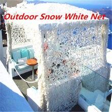 Filet de Camouflage militaire, chasse, Camping, extérieur, à mailles blanches neige, décoration de fête mariage, 1,5x5 2x3 2x6 3x4 2x8m