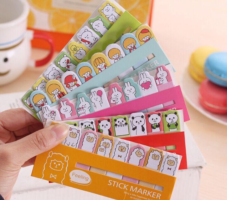 DIY Mini Cute Kawaii Cartoon Animal memo pad Sticker Post It Note Paper bookmark for Kids Creative Gift korean papelaria