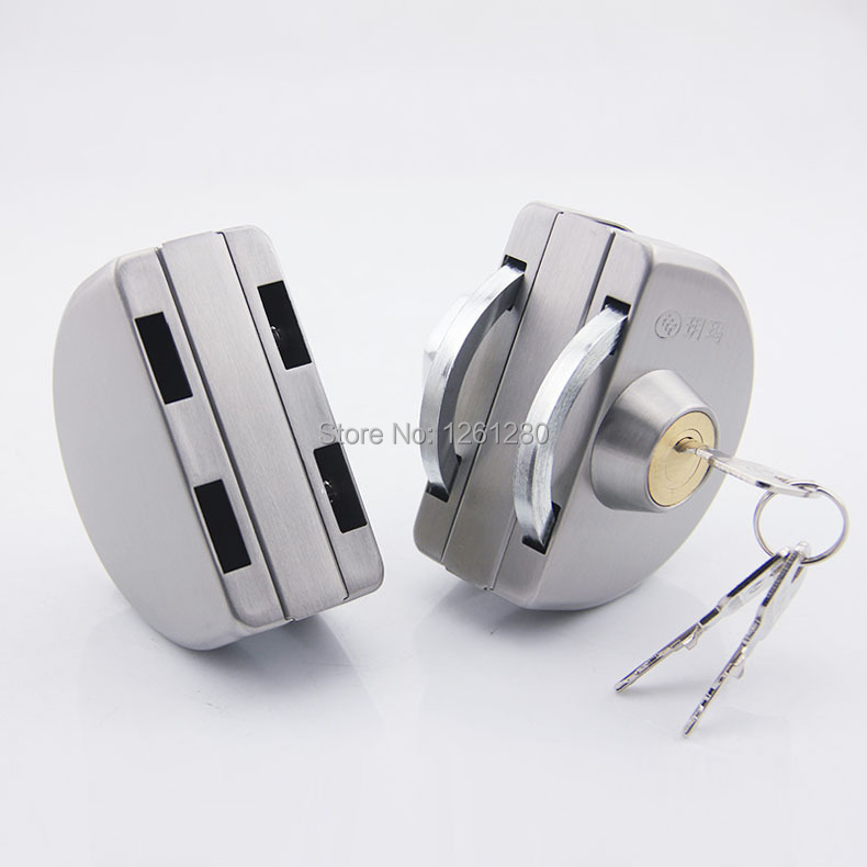 free shipping glass door lock security lock House Ornamentation Door Hardware Lock 304 stainless steel Anti-theft locks free shipping door stops door hardware household part stainless steel door stopper wiht rubber door holder house ornamentation page 1