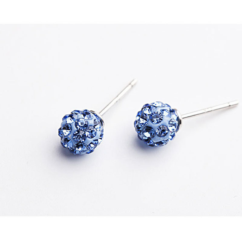 2019 authentic 925 sterling silver round shape earrings in stud earrings fashion jewelry with cubic zirconia suitable for girl in Stud Earrings from Jewelry Accessories