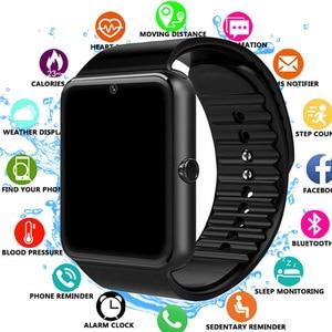 Image 1 - 2019 Bluetooth Smart Uhr Unterstützung 2G SIM TF Karte Kamera Smartwatch PK X6 Z60