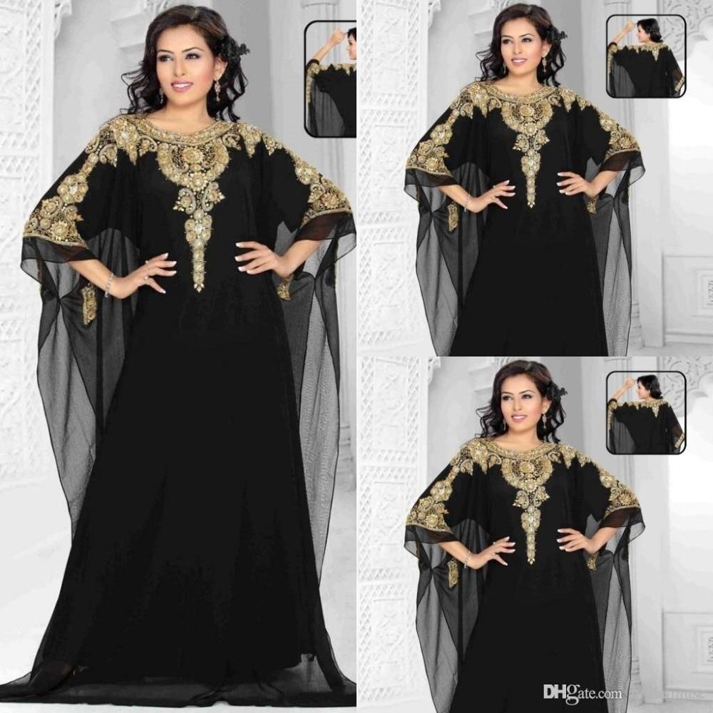 Черный платья с золотыми
