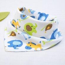 Baby bibs Double Layers High quality Cotton babys feeding triangle baberos Cartoon Animal Print baby bandana  Burp Cloths