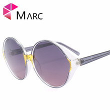 MARC UV400 2018 NEW WOMEN MEN sunglasses fashion Gradient Plastic Mirror Siver Purple Resin Goggle
