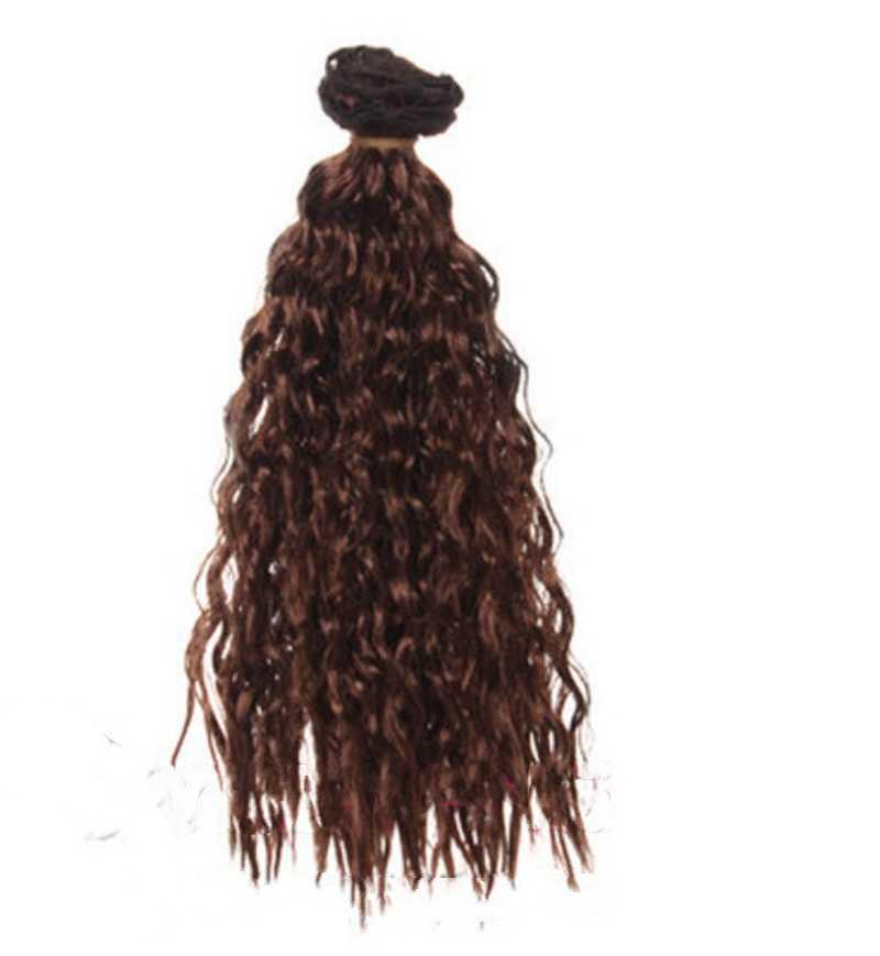 1 шт. 25 см * 1 м кукла парики DIY кукольные волосы девственные индийские волнистые парики золотой, коричневый, красный Цвет волос для 1/3 1/4 1/6 BJD кукла