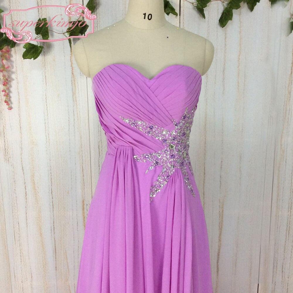ᗐSuperkimjo vestidos de gala 2018 una línea de gasa púrpura ...