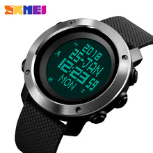 SKMEI Men Watch Compass World Time Pressure Pedometer Stopwatch Calorie Electronic Digital Watches Relogio Masculino 1430/1431