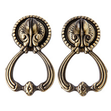 2Pcs Antique Brass Furniture Knobs Vintage Cabinet and Handles Door Closet Drawer Kitchen Pull Handle Home Decor