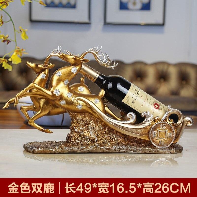 Стол винный шкаф украшения Творческая гостиная ТВ кабинет олень украшения Европейский винный шкаф аксессуары винный шкаф WL5071430 - 3
