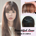 Apply Hair Clip in Bangs Fake Hair Extension Hairpieces False Hair Piece Clip on Front Neat Bang For Women Synthetic Air Bang