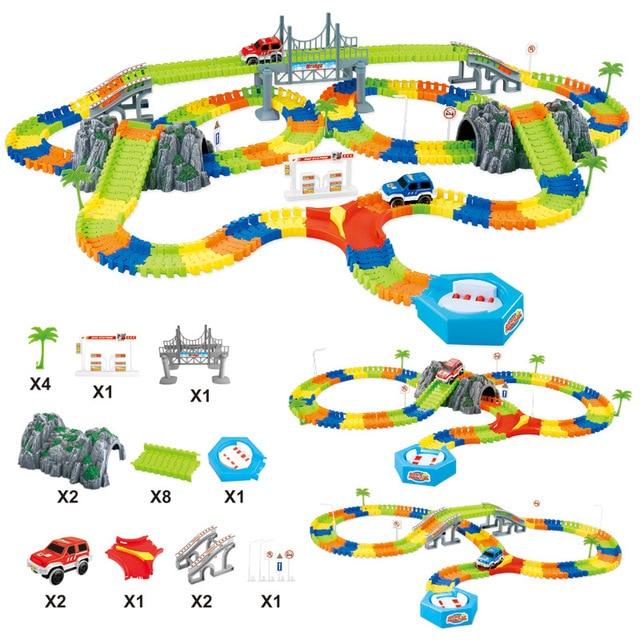 5.5cm רכב עבור ילד DIY אוניברסלי אביזרי קסום מסלול מצחיק גמיש מסלול זוהר מסלול זוהר בחושך צעצועים לילדים