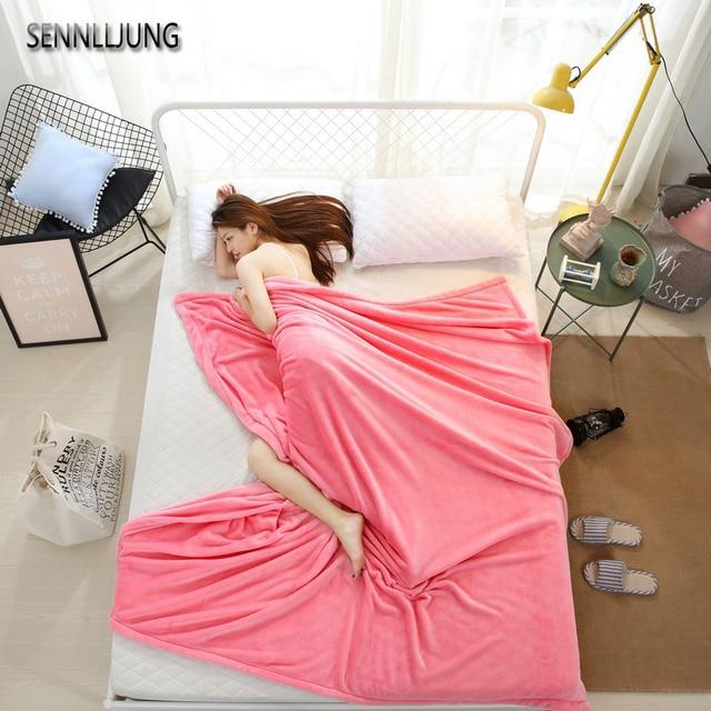 SENNLLJUNG Fleece Blanket VS Pink Winter Warm Bed Blanket Flannel ...